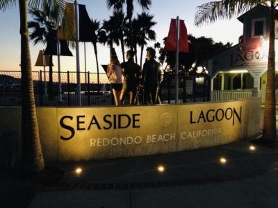Seaside Lagoon sign